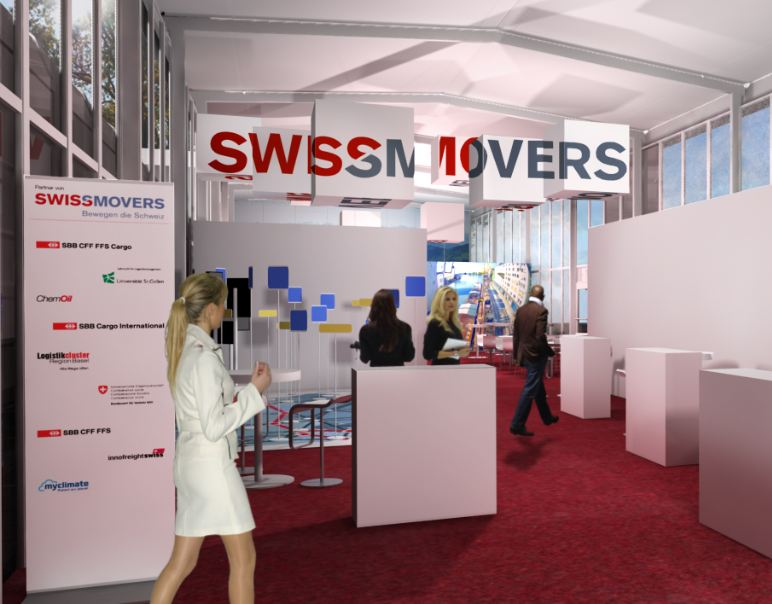 Visualisierung des Auftritts Swiss Movers