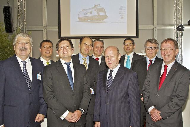 Vertreter der sieben beteiligten Güterbahnen