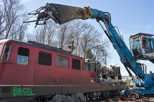 Verschrottung Ae 610