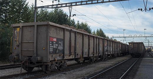 Güterwagen mit Zuckerrüben