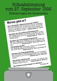 Informationen zur NEAT-Abstimmung