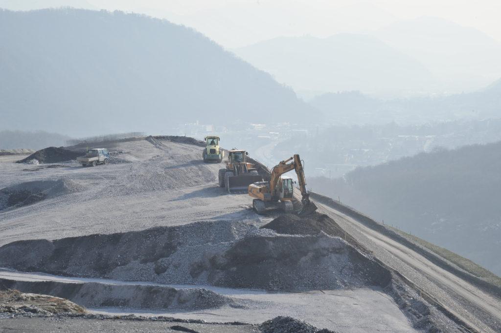 Bild des Aushubs des Ceneri-Basistunnels bei Sigorino