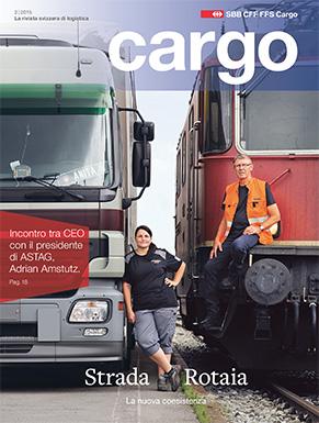 La nuova rivista cargo sarà disponibile dal 24 agosto 2015. Il numero attuale ruota interamente attorno alla relazione tra strada e rotaia.