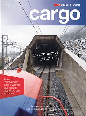 Le nouveau magazine Cargo est disponible dès le 14mars 2016. Cette nouvelle édition aborde le nouveau tunnel du Gothard.