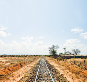 Neverending railway von Mombasa to Nairobi, Afrika