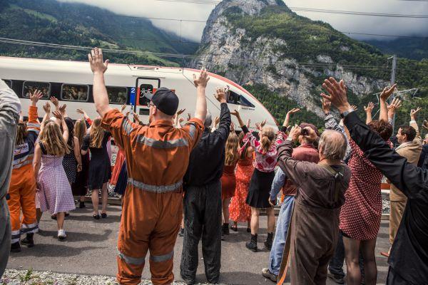 Gotthard-Eröffnung in Erstfeld