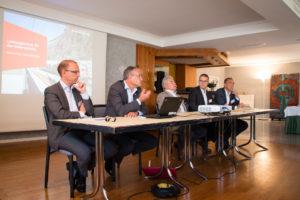 Gerd Aufdenblatten Holcim (Schweiz) AG, Nicola Perrin SBB Cargo, Toni Häne Leiter Fernverkehr SBB, Roberto Tulipani CEO TILO AG