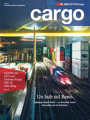 La nuova rivista cargo sarà disponibile dal 19 aprile 2017. Il numero attuale ruota interamente attorno d'un hub sul Reno.