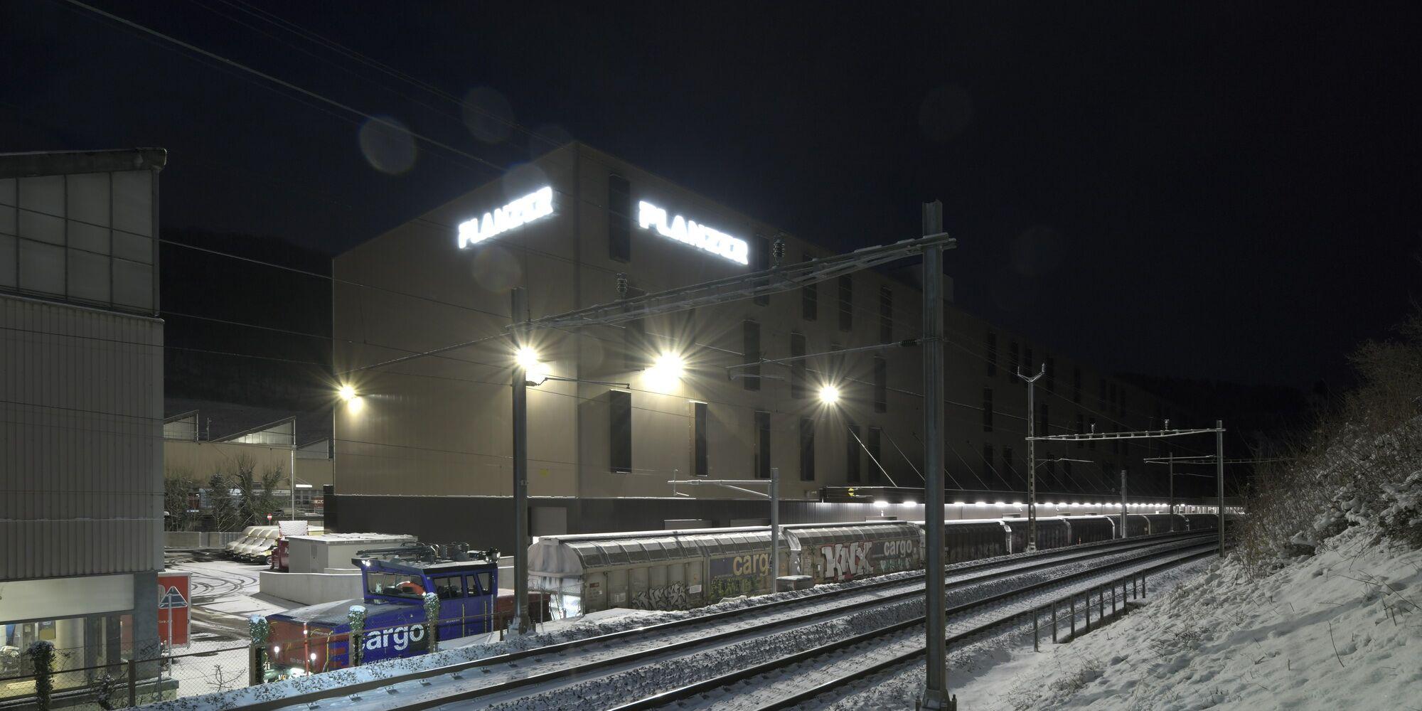 Das neue Bahncenter von Planzer in Penthalaz.