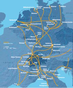 Aperçu du réseau pour l'offre de trains complets de ChemOil